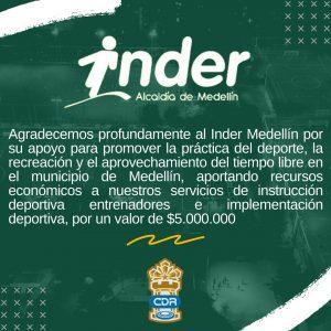 Agradecimiento al Inder Medellín